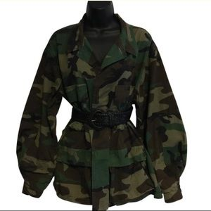 Vintage Army Camouflage Shirt